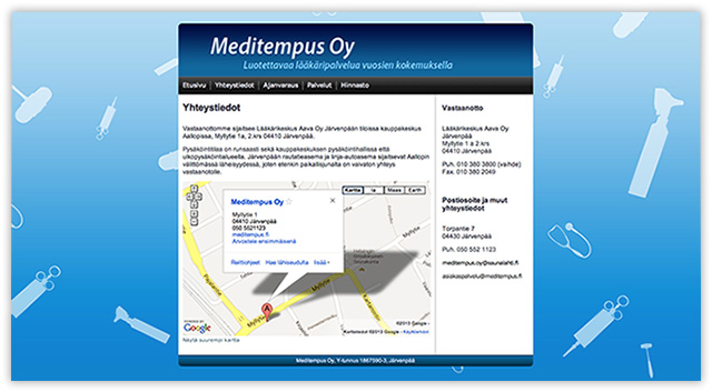 Meditempus Oy Web Site